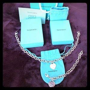 Authentic Tiffany Necklace and Matching Bracelet